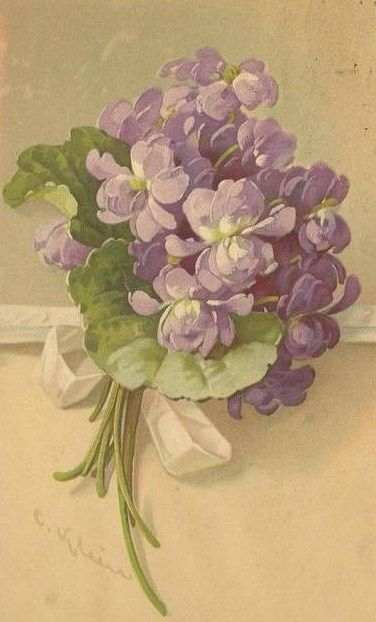 Vintage Shabby Lilacs!