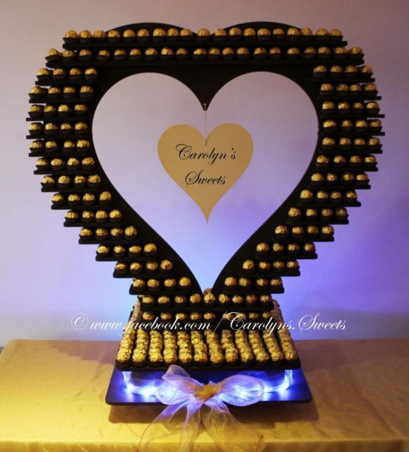 HUGE heart wedding celebration ferrero rocher display stand cake balls sweets | eBay