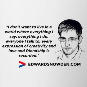Snowden Quote Mug Contrasting Mug Mug with contrasting trim and handle, brand: Printequipment
