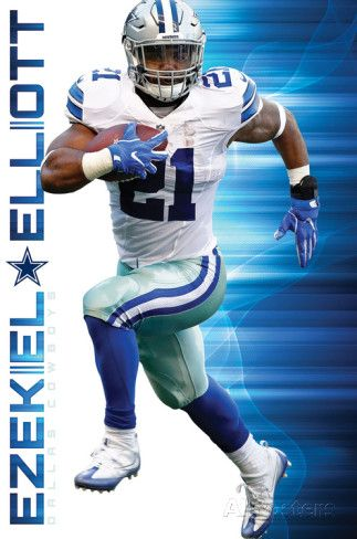 Keep running! Dallas Cowboys #21 Ezekiel Elliott.