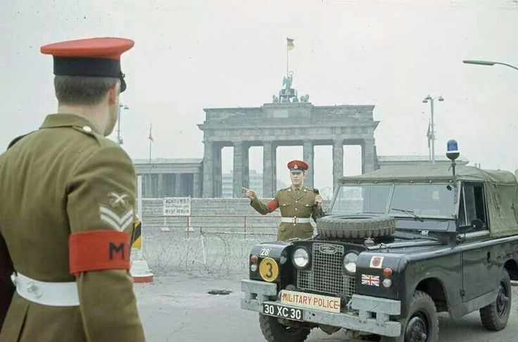 British RMP's in Berlin, 1976.
