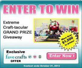 Enter to win this amazing grand prize collection of craft products!  With more than $1,500 worth of prizes, this giveaway is a crafter's dream come true!