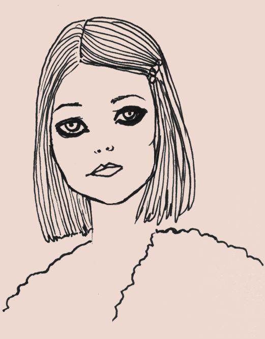 'Margot'  illustration by Giulia Benaglia