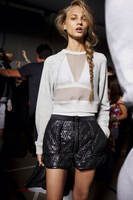naimabarcelona:  Anna Selezneva backstage at Alexander Wang