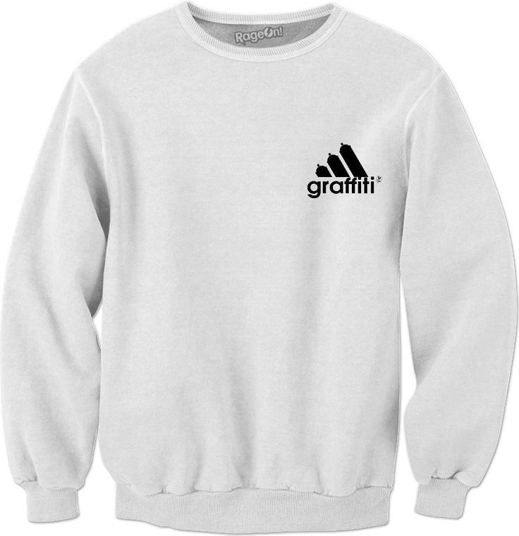 NEW adidas graffiti crew neck