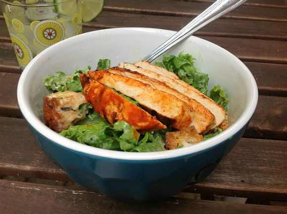 BBQ Buffalo Chicken Caesar Salad