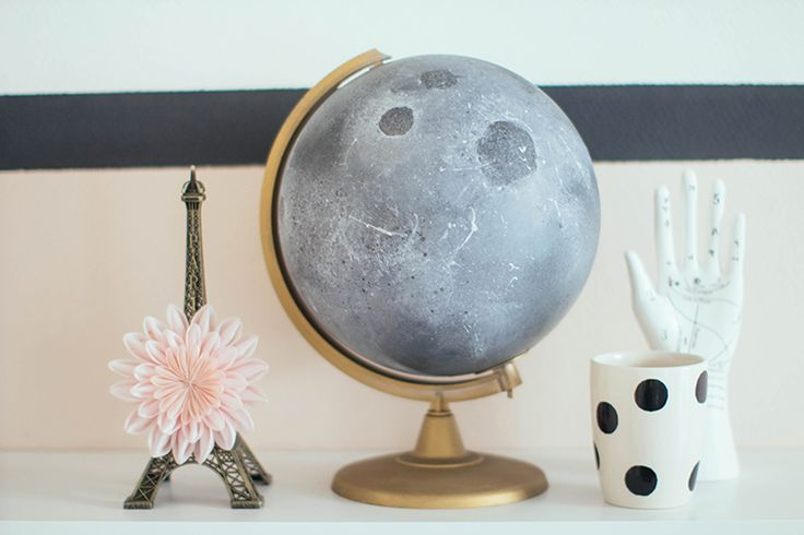 DIY moon globe by Make My Lemonade.