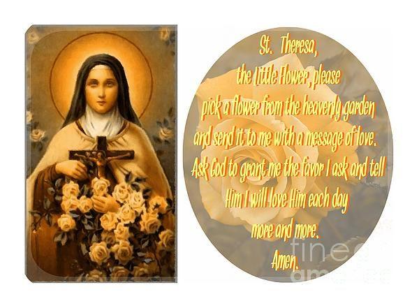 Prayer to St Theresa