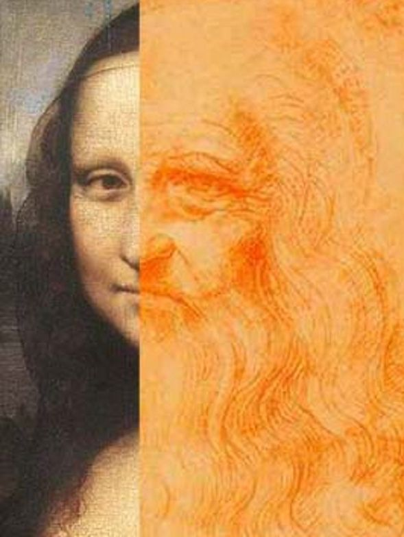 Mona Lisa matches with a portrait that some is considered to be Leonardo's self image. Could this mean that also Mona Lisa is Leonardo's self image?