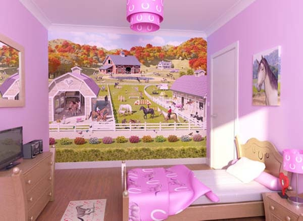 Horse Themed Bedroom For Little Girl