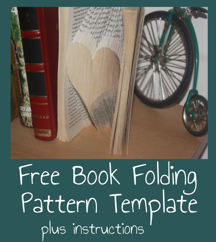 Free Heart Book Folding Pattern Template and Instructions ...