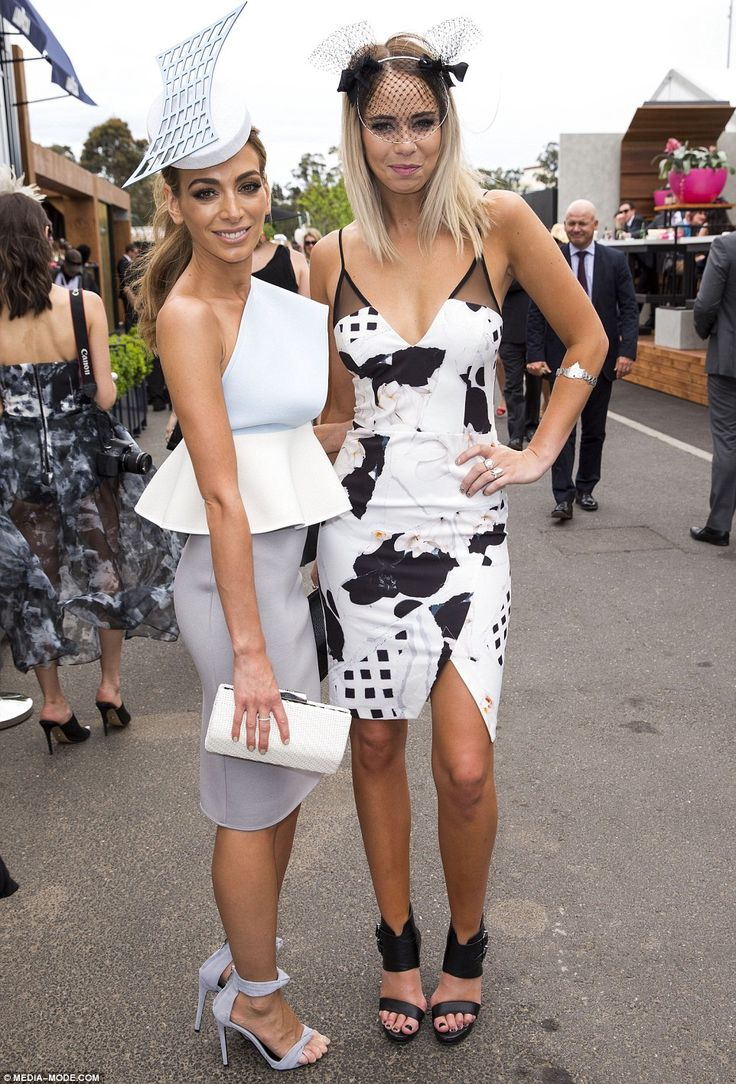 Nadia Bartel and Tully Smith at Melbourne Cup Day 2014