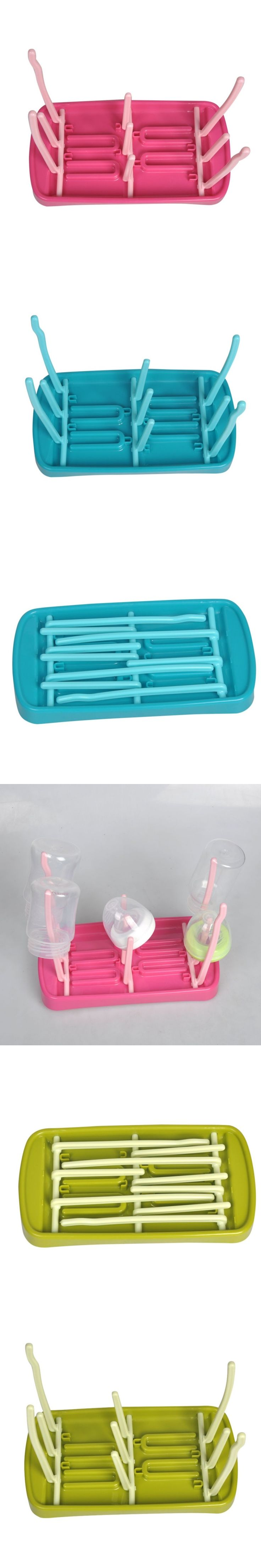 3 Color Baby Bottle Drying Rack Baby Bottles Cleaning Drying Rack Storage Nipple Shelf Baby Pacifier Feeding Cup Holder
