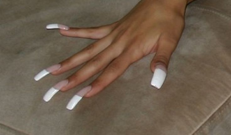 Long French Nails