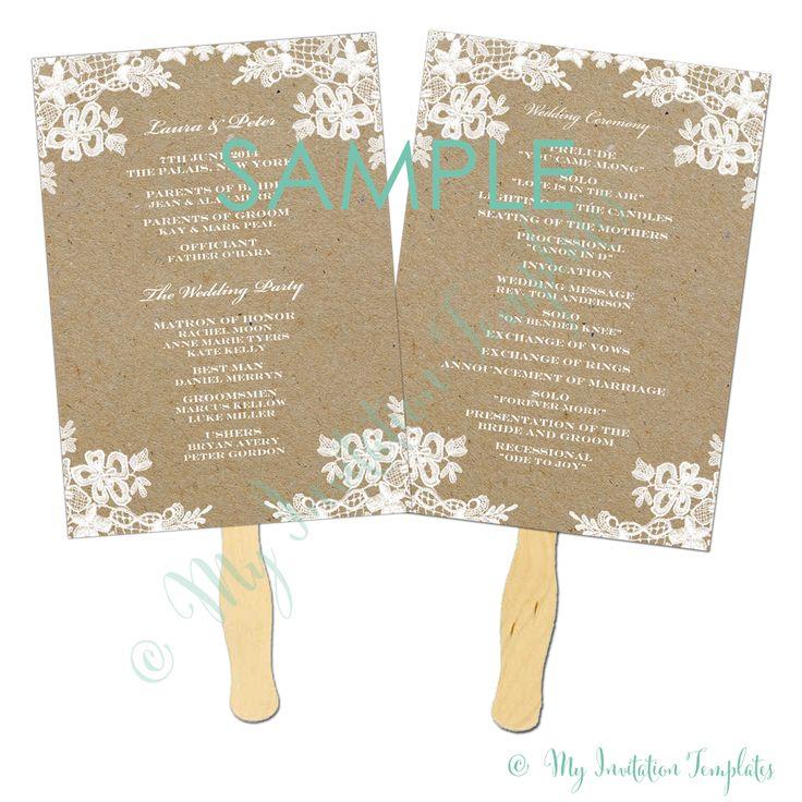 church fans template - 1000 ideas about wedding program samples on pinterest