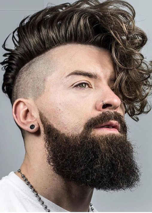 Long curly hairstyle for men 2017-2018