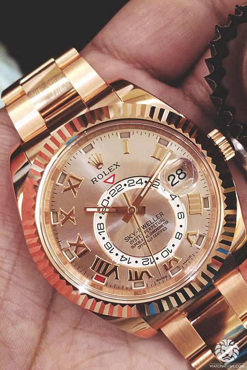 watchanish: Live Basel Release - New all rose gold Rolex Skydweller.More of our footage at WatchAnish.com.