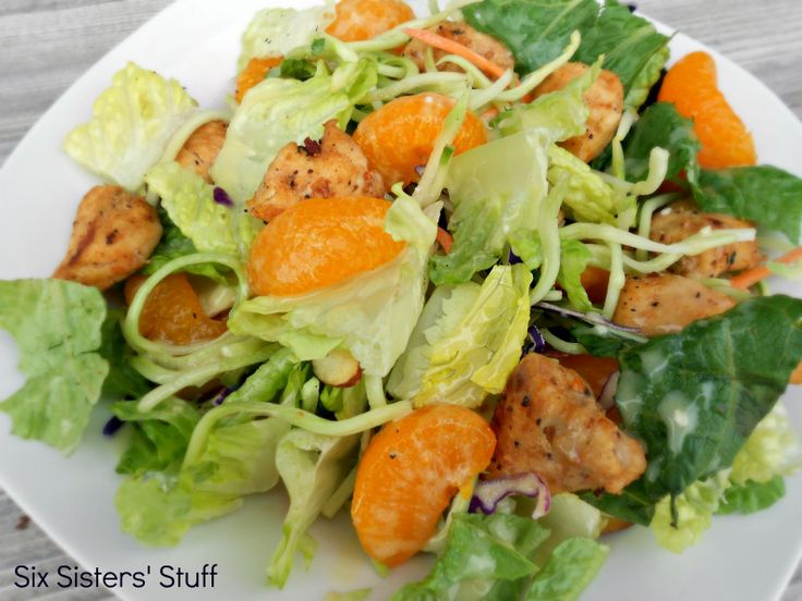 Applebees Oriental Chicken Salad.  A delicious, restaurant quality salad at a fraction of the price! SixSistersStuff.com