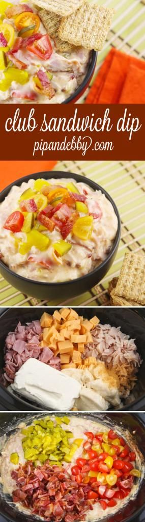 Turn a club sandwich into a delicious hot dip in your crockpot! This is one of our favorite appetizers of all time.