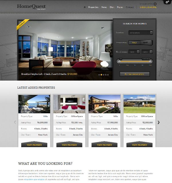 [WordPress] - HomeQuest is a real estate WordPress theme | Xtratheme
