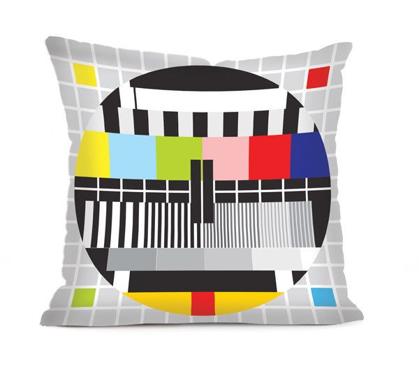 TV Test Pattern  - Cushion Cover