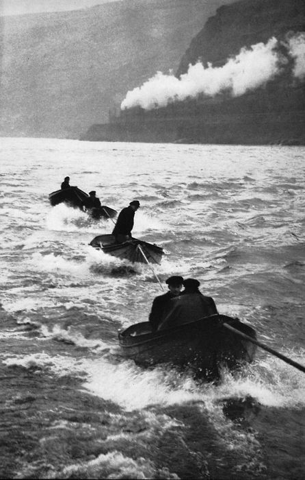 Henri-Cartier Bresson, On the Rhine, Germany, 1956 >> dramatic and beautiful photo!