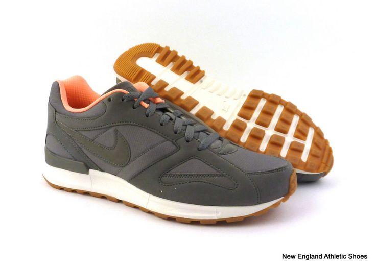 Nike men Air Pegasus New Racer running shoes - Tumbled Grey / Sunset Glow $90 #Nike #RunningCrossTraining