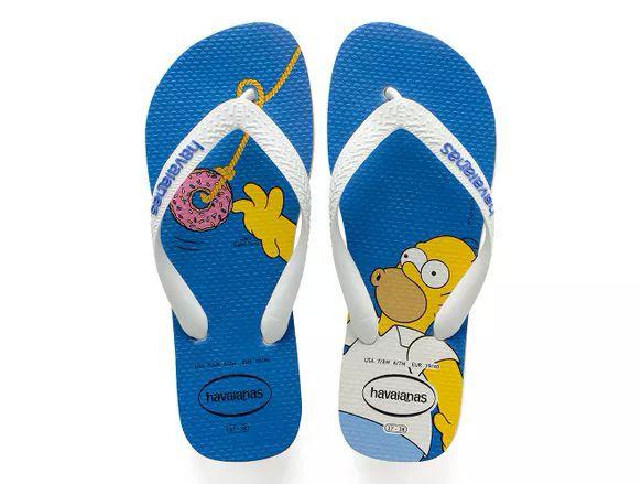 b75d4cd386 Havaianas lança nova coleção de chinelos dos Simpsons - Geek Publicitário