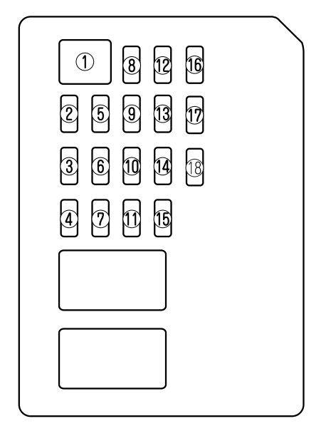 Mazda 6  2009 - 2010  - Fuse Box Diagram