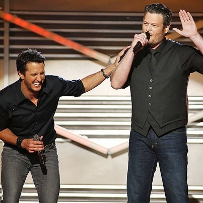 Luke Bryan and Blake Shelton....awesome co-hosts at the ACM's