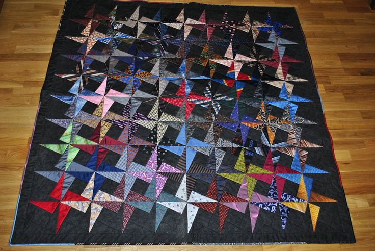 7 best images about Quilts made from men s ties on Pinterest Necktie quilt, Lost and Quilt