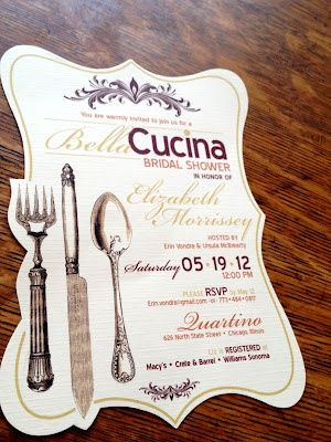 tuscan bridal shower ideas | Italian theme invites | Italian Bridal Shower for Brittany