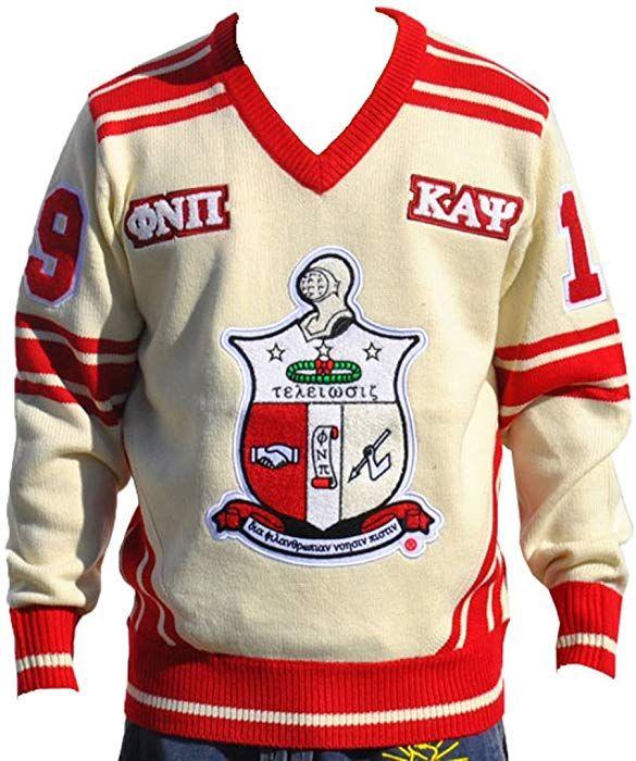 bb897492 Big Boy Headgear Kappa Alpha Psi Fraternity Men's Wool V-neck Sweater  Medium Cream Color at Amazon Men's Clothing store: