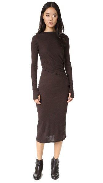 Enza Costa Платье с длинными рукавами и рюшами