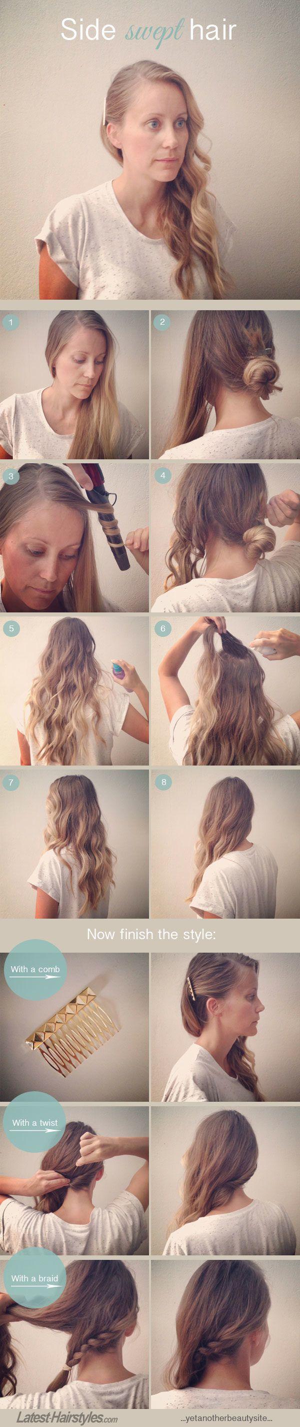 side swept hair tutorial