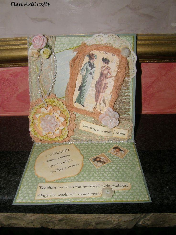 Elen ArtCrafts: Μια κάρτα ευγνωμοσύνης.../A card of gratitude...
