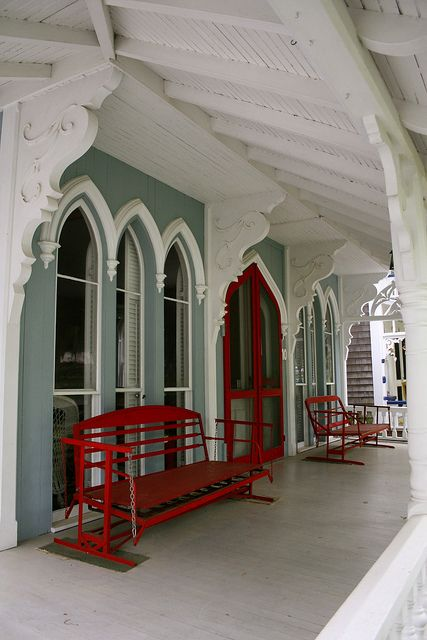 Porch in the Camps by bigred550m, via Flickr ~ love the colors