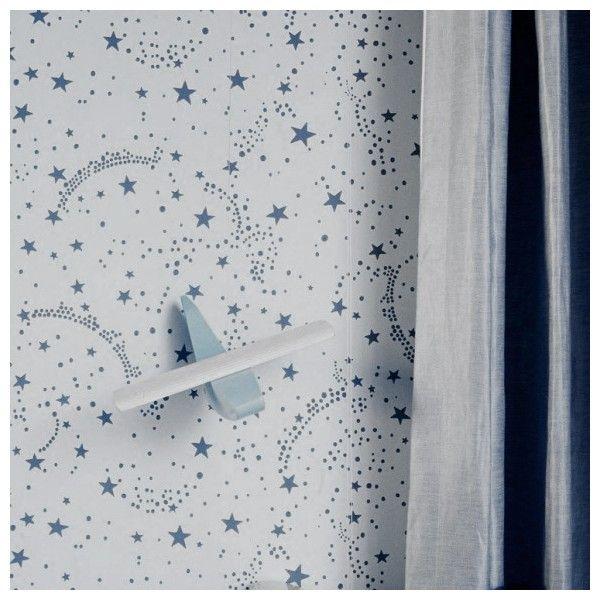 Papier peint enfants gris STARS-SKY - Tapet Cafe - Au fil des Couleurs