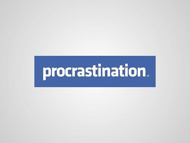 I thought I'd post my previous series of #honestlogos from 2011 - #11 Procrastination. #adbusting #parody #logo #satire #graphicdesign #viktorhertz #procrastination #facebook
