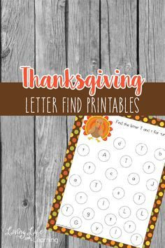 Have fun finding different letters in this Thanksgiving letter find printables, fun for preschoolers and kindergarten students