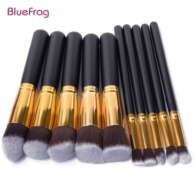 BLUEFRAG 10 Pcs Makeup Brushes Superior Professional Soft Cosmetics Make Up Brush Set Kabuki Brush kit Makeup Brushes Wholesale //Price: $11.94 & FREE Shipping //     #hairextension #style #beauty #woman #love
