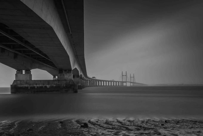 The Second Severn Bridge By Jimcooke 7951 Black And White