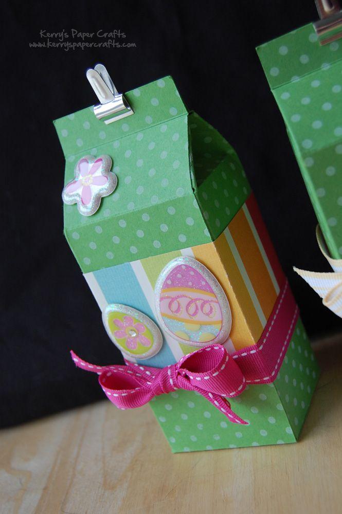 Finalmente encontrei o molde da caixinha de leite no site Kerrys Paper Crafts !     Vejam quantas coisas lindas você pode fazer com este...