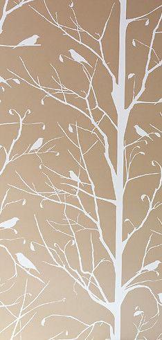 June 2013 - Lonny Magazine - Lonny  Blackbird Wallpaper in Snow by Cavern  155$ per roll