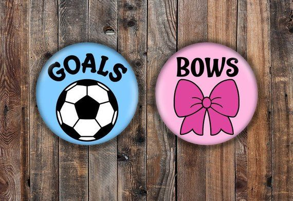 Goals or bows cake topper