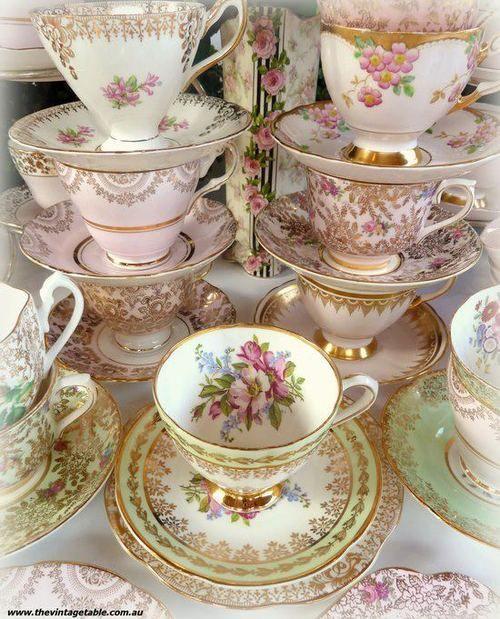 Vintage bone china teacups ❤