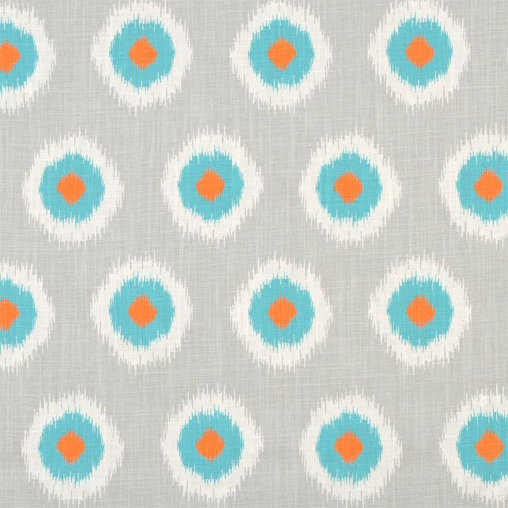 Ikat Domino colour Mandarin/Dossett Find this and other great fabrics at www.curtaineasy.co.nz