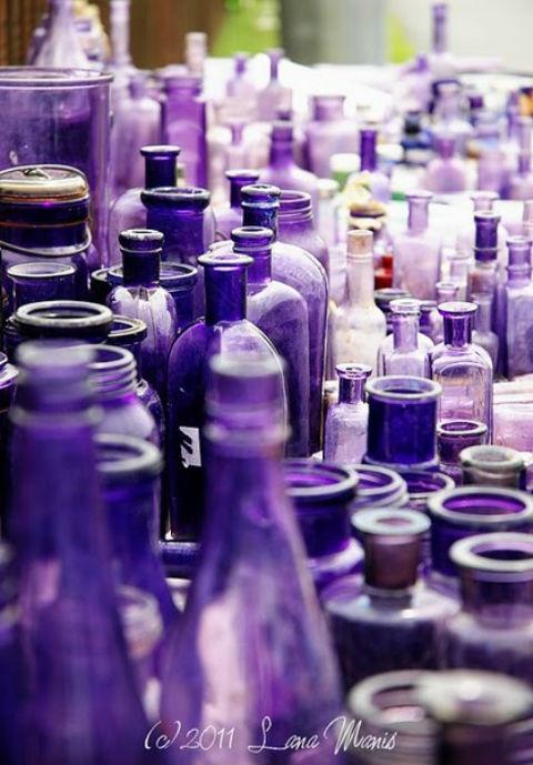 Antique purple glass found at the Flea Market