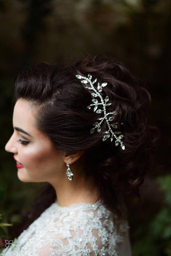 Bridal Hair Accessory Hairpiece of Rhinestones Crystals