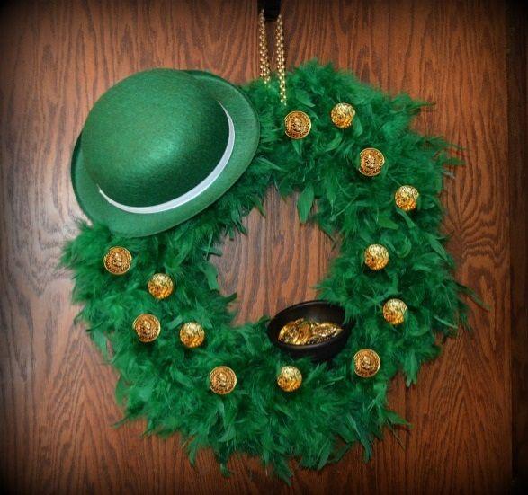 DIY St Patricks Day Wreath #stpattys